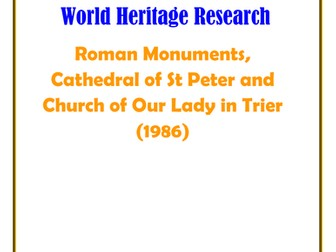 Germany: Roman Monuments, Cathedral of St Peter and Church of Our Lady in Trier