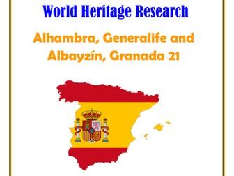 Spain: Alhambra, Generalife and Albayzín, Granada21 Research Guide