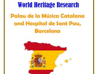 Spain: Palau de la Música Catalana and Hospital de Sant Pau, Barcelona Research Guide