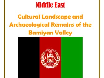 Middle East: Afganistan: Cultural Landscape and Archaeological Remains of the Bamiyan Valley