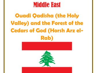 Middle East:  Lebanon:  Ouadi Qadisha (the Holy Valley) and the Forest of the Cedars of God (Horsh Arz el-Rab)