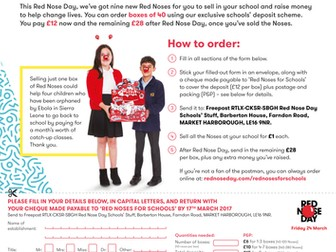 Red Nose Day 2017: Red Nose Order Form