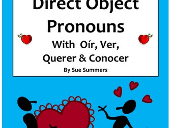 Spanish Direct Object Pronouns With Verbs Oir, Ver, Querer and Conocer