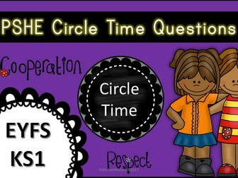 Circle Time Questions for Early Years and KS1 (Developing SMSC)