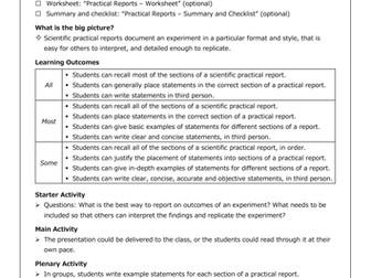Practical Reports [Presentation]