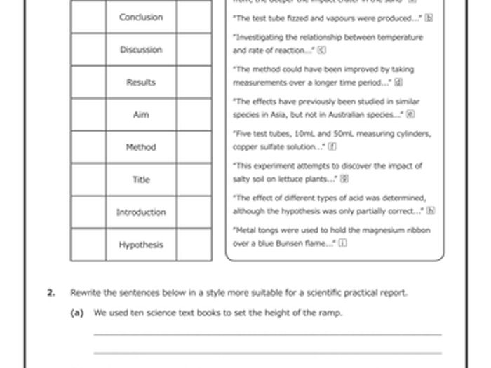 Introduction To Science \u2013 Worksheets \u0026 Activities [bundle] By Grammar Worksheets For ESL Students Practical Reports [worksheet]
