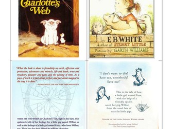 E B White - Charlotte's Web - 7 sessions of Guided Reading / Whole class activities