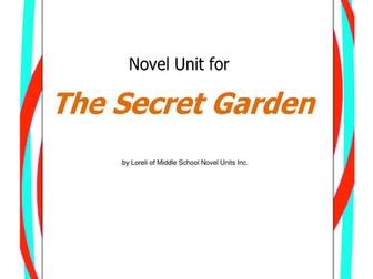 The Secret Garden Unit with Literary and Grammar Activities