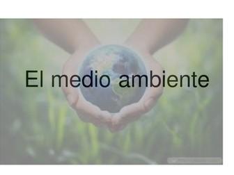Powerpoint Vocabulario : EL MEDIO AMBIENTE