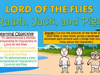 Lord of the Flies: Ralph, Jack, and Piggy