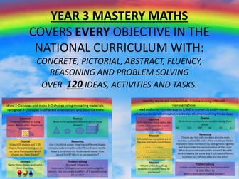YEAR 3 MASTERY MATHS COVERS EVERY OBJECTIVE CPA