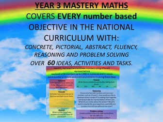 YEAR 3 MASTERY MATHS COVERS EVERY number based OBJECTIVE CPA