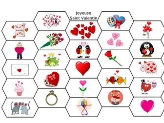 FRENCH - SAINT VALENTINE - ACTIVITIES 2 - WORKSHEETS/GAME
