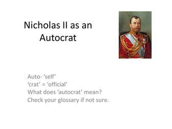 Decline and Fall of the Romanov Dynasty -Nicholas II Accension  and  as an Autocrat