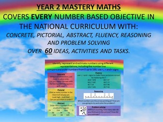 YEAR 2 MASTERY MATHS COVERS EVERY NUMBER BASED OBJECTIVE