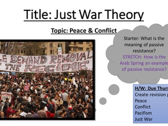 pacifism vs just war theory It is unnecessary to argue for the need of securing peace from dilemmas since the usual just war theory just war and the institutional pacifism.