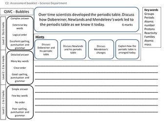 GCSE Chemistry Units 1-6 6 mark questions revision (Covers all exams boards)