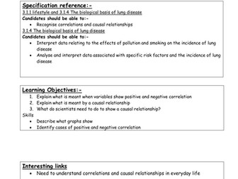 AS Biology - Lungs teaching materials (Lesson materials, worksheets, diagrams)
