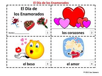 Spanish Valentine's Day  2 Emergent Reader Booklets - El Dia de los Enamorados