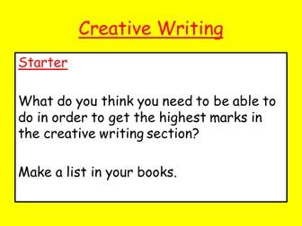 Creative Writing: Edexcel