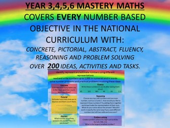 YEAR 3,4,5,6 MASTERY MATHSCOVERS EVERY NUMBER BASED OBJECTIVE