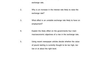 Exchange rate policy questions