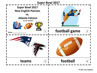 Super Bowl 2017 - 2 Emergent Reader Booklets - Football