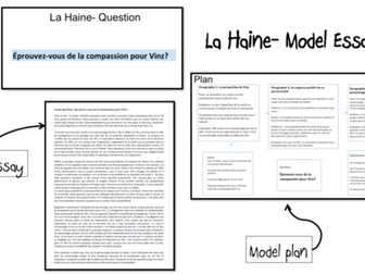 la haine model essays practice big bundle a level french  la haine model essays 2 as and a2 french lot1