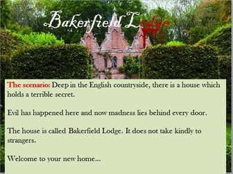 Bakerfield Lodge –  Creative Horror Writing Lesson