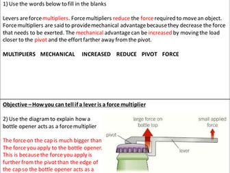 More about Levers And Gears Homework