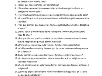 New AS Spanish Speaking: questions for topics