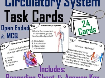 Heart and Circulatory System Task Cards