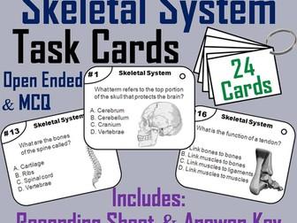 Bones and the Skeletal System Task Cards