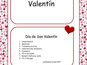 Día de San Valentín - St. Valentines Day Workbook & Display