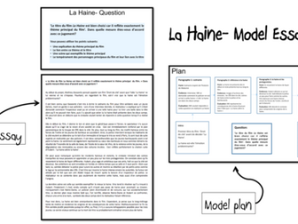 La Haine model essays (2) AS and A2 French- lot2