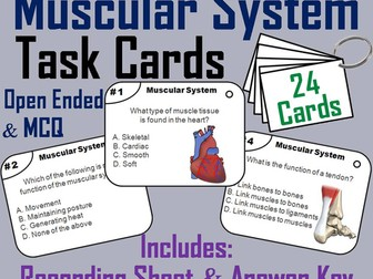 Muscles and Muscular System Task Cards