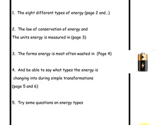 Energy types explained!