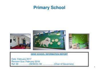 Outstanding editable SEND School information report word document