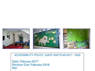 Accessibility Policy, audit and plan