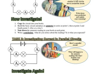 INVESTIGATE! - CURRENT IN SERIES AND PARALLEL CIRCUITS