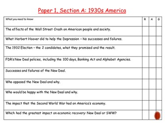 AQA GCSE History Section 1A America. Part 3: Post War America.