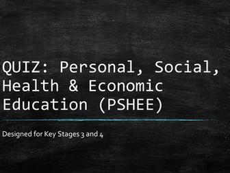 Quiz PSHEE (general)