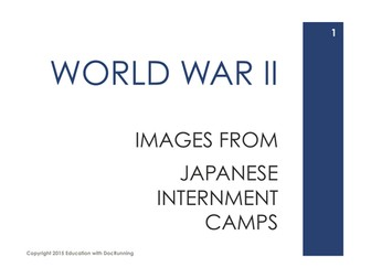 Japanese Internment in America Station Activities for Second World War