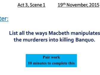 Macbeth Act 3 Scene 1