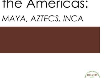 Maya, Inca, Aztecs Interactive Notebook Graphic organizers on Maya, Inca, Aztecs