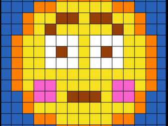 Colouring by Trig Ratios, Embarrassed Emoji (Solo Mosaic)