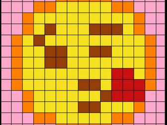 Colouring by Trig Ratios, Kiss Emoji (Solo Mosaic)