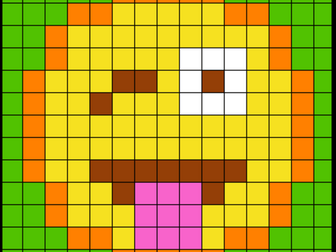 Colouring by Trig Ratios, Tongue Out Emoji (Solo Mosaic)