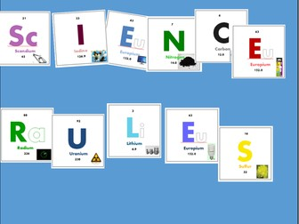 Science Rules! Periodic Table Bulletin Board