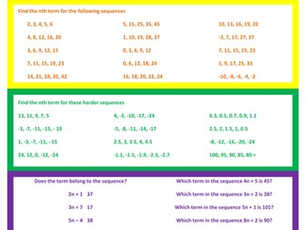 Differentiated (RAGE) Sequences | Nth term